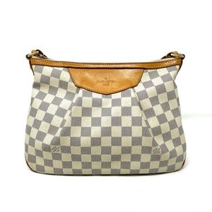 100% Auth Louis Vuitton Siracusa PM Crossbody Bag